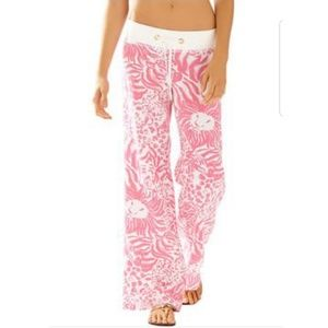 Lilly Pulitzer Get Spotted Linen Beach Pants